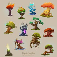 Amazing trees on Behance