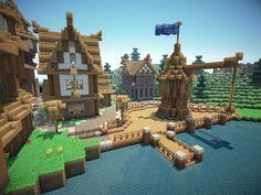 Medieval Farm Village Screenshots Show Your Creation Minecraft farm Minecraft medieval Minecraft medieval village