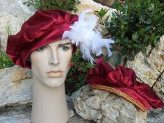 Tudor Prince Hat - Free tutorial and instructions on drafting your own pattern Renaissance Hat, Medieval Hats, Medieval Clothing, Costume Hats, Cute Costumes, Costume Ideas, Tudor Costumes, Period Costumes, Cinderella Costume