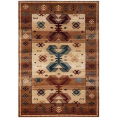 Rizzy Home Tan/Ivory/Brown Runner Rug In Polypropylene 2'3 inch x 7'7 inch, Blue