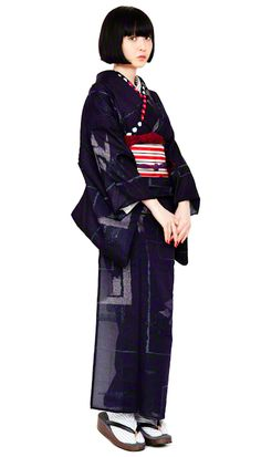 ● ● ma's Concierge ● ● Japanese Outfits, Japanese Fashion, Asian Fashion, Furisode Kimono, Kimono Dress, Traditional Japanese Kimono, Traditional Dresses, Modern Kimono, Kimono Design