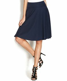 INC International Concepts Pull-On A-Line Skirt