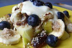 Homeveganer: Nussiges Obstfrühstück mit Heidelbeeren