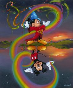 """""""Two Faces of Mickey"""" by Jim Warren"""