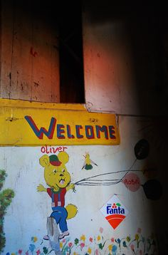welcome-drawing at roselsheim.  Lost Place Urban Exploration https://www.facebook.com/ForgottenHideaways Copyright by ForgottenHideaways