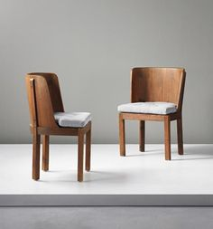 PHILLIPS : UK050414, Axel Einar Hjorth, Pair of chairs, from the 'Lovö' series
