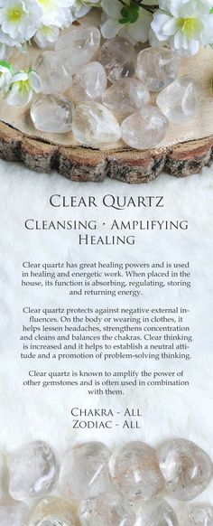 Description of the many uses of quartz crystals for the average layman. How to benefit from quartz crystals. Crystal Magic, Crystal Healing Stones, Clear Quartz Crystal, Chakra Crystals, Crystals And Gemstones, Stones And Crystals, Healing Gemstones, Gem Stones, Quartz Clair