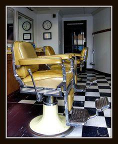 vintage barber chairs