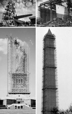 scaffolding historic monumental construction