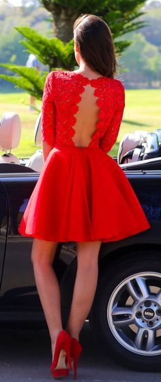 Red Lace Graduation Dresses, Short/Mini Graduation Dresses, Real Made Homecoming Dresses, The Charmi on Luulla