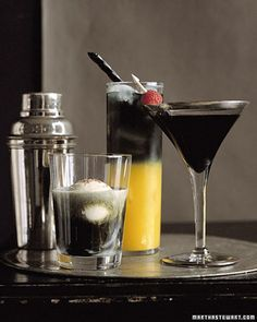 Just for grown-up goblins: Serve up a little black magic -- in the form of cocktails made with vodka that's as dark as night. http://ziggacakedup.com/