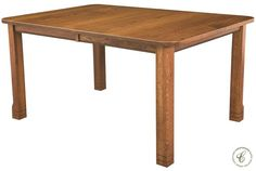 Customize your Parron Extendable Leg Table with up to twelve expansion leaves in nine wood species and six sizes sure to work in your dining room.