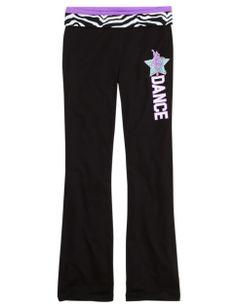 Zebra Sports Yoga Pants | Girls Yoga Bottoms Clothes | Shop Justice - Dance Purple Size 8