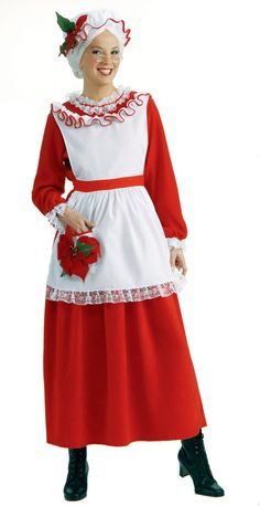 383a0dcbd8a Costumes Reenactment Theater 163147  Classic Mrs Claus Santa Christmas Red  Dress Holiday Costume 2Pc Set