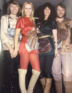 Abba - Outside the Studio BBC England 1978