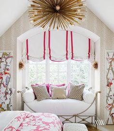 Double Window With Relaxed Roman Shades Separate Single
