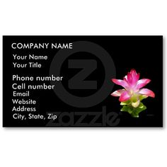 Tropical Bliss Business Cards by birdersue from Zazzle - Digital photography and design by Sue Melvin