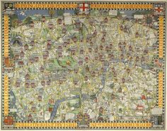 In 1913 designer Max Gill was commissioned to brighten up the #LondonUnderground - the Wonderground Map of London Town was born.