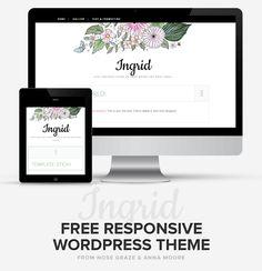 Ingrid: free, flowery, responsive WordPress theme for WordPress