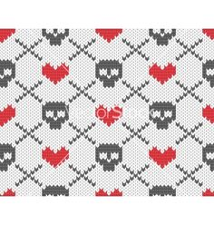 Knitted pattern with skulls vectorWe're the largest royalty-free vector only stock agency in the world.  Every week we add new premium vector graphics by the thousands. Whether you're a global ad agency or a freelance graphic designer, we have the vector graphics to make your project come to life.