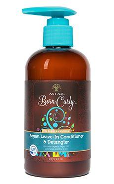 As I Am Born Curly For Babies & Children Argan Leave-In Conditioner & Detangler 8 fl oz