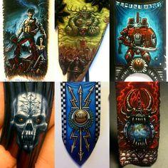 Warhammer Figures, Warhammer Art, Warhammer Models, Warhammer Fantasy, Warhammer 40000, Chaos Theory, Fantasy Miniatures, Mini Paintings, Paint Schemes
