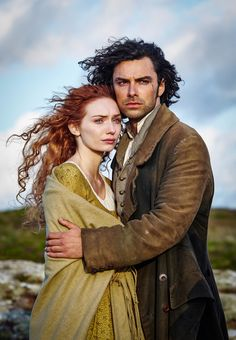Demelza (Eleanor Tomlinson), Ross Poldark (Aidan Turner) in the BBC1 adaptation of Poldark. Photograph: Mike Hogan/BBC