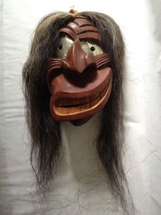 Vintage Hand Crafted Native American Indian Iroquois Broken Nose False Face Mask
