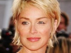 short hairstyles for square faces over 60 - Google Search