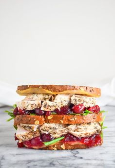 Leftover Turkey Sandwich with a Moist Maker is just what you need to finish off all those Thanksgiving leftovers! Easy Sandwich Recipes, Best Sandwich, Wrap Recipes, Lunch Recipes, Whole Food Recipes, Sandwich Ideas, Dinner Recipes, Leftover Turkey Recipes, Leftovers Recipes