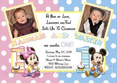 Birthday Party Invitation Idea - Minnie Mouse on both Sides