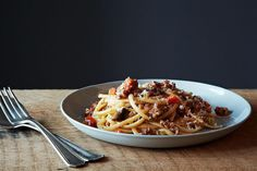 Nigel Slater's Really Good Spaghetti Bolognese ~ very rich!  (Can cut back on butter & cream, use olive oil, etc.)