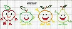 This Pin was discovered by Fun Cross Stitch Sea, Cross Stitch Kitchen, Loom Patterns, Cross Stitch Patterns, Broderie Simple, Halloween Cross Stitches, Silly Faces, Loom Beading, Baby Knitting