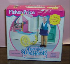 Fisher-Price Collection * Dollhouse ~ Dream = Village Vendor - 1995
