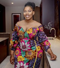 Plus Size and Curvy Ladies Is there a curved lady in the house? Do you know that you look stylish and super beautiful in Ankara? African Fashion Designers, African Fashion Ankara, African Print Fashion, African Wear, African Attire, African Women, African Dress, Fashion Prints, African Style