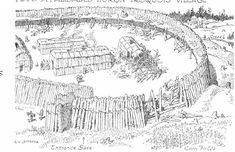 Part of a Palisaded Huron-Iroquois Village Native American History, American Indians, Huron Wendat, Woodland Indians, France 2, Iroquois, Before Us, Early American, First Nations