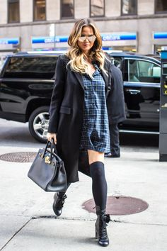 The Sports Illustrated model and forthcoming cookbook author takes pregnancy style to grungier territory.