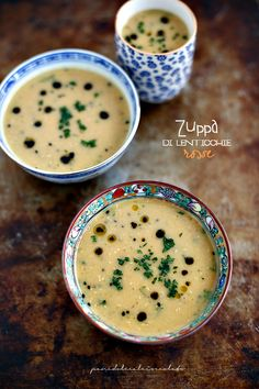 Zuppa di lenticchie Rosse decorticate all' indiana - Soup for Winter