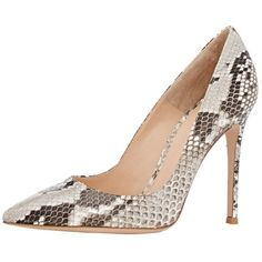 Aibarbie Women's Ladies Rossi's Python Animal Print Pointy Handmade... ($80) ❤ liked on Polyvore featuring shoes, pumps, party shoes, pointed shoes, prom pumps, party pumps and pointed pumps