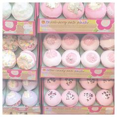 "Karen on Instagram: ""prettiest little @bombcosmetics_official bath bombs, the cotton candy one smells heavenly ✨"""