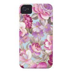 Cobrir roxo das flores capas iPhone 4