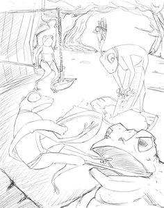 Boceto 04 - Relatos indígenas Children's Book Illustration, Concept Art, Sketch, Conceptual Art