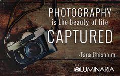 Los fotógrafos capturamos la belleza de la vida.