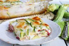 Lasagne+alle+Zucchine,+Speck+e+Scamorza