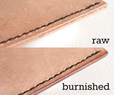 "How to burnish leather edges...""Spoony""says: another good instructable with easy reading style."