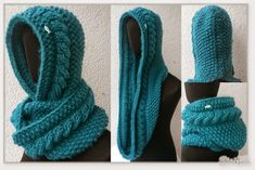 Stricken, Häckeln, Nähen This scoodie is simply a classic and fun. I have already introduced it to y Hooded Scarf Pattern, Crochet Hooded Scarf, Knit Vest Pattern, Crochet Scarves, Knitting Patterns, Knit Crochet, Crochet Patterns, Crochet Hats, Loom Knitting