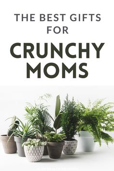 I've got the best gifts for crunchy moms! Tons of houseplants, essential oils, and other creative gifts are perfect for a more holistic-minded mom.