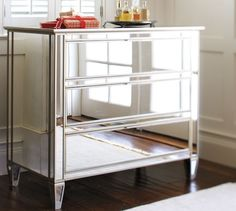 Park Mirrored Dresser Champagne Finish