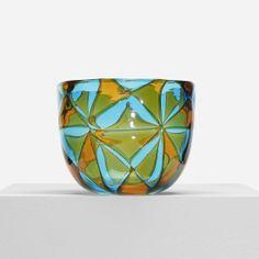 Ercole Barovier; Intarsio Glass Bowl for Barovier & Toso, 1963.