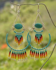 Boucles D'Oreilles Crochets Argent Navajo Amerindien Bohème Hippy | eBay